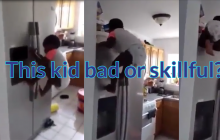 Bad child or skillful? A video showing a toddler climbing a fridge