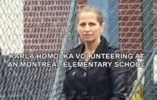 Karla Homolka volunteering at an Montreal elementary school.