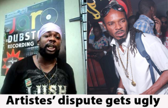 Artistes' dispute gets ugly LA Lewis Vs Ras Myrhdak