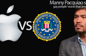 FBI war with Apple and Manny Pacquiao gay bashing Comment
