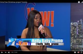 Crime Free Christmas project Toronto Kelly Baby Promo