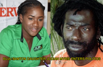 Buju Banton's daughter Jodian Myrie has traded her musical roots for politics.