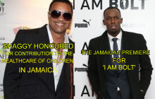 I am Bolt Premiere and Shaggy honoured for contribution to the health of children in Jamaica